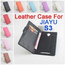 Litchi для JIAYU S3 чехол, Хорошее качество Новый кожаный чехол + жесткий задняя крышка для JIAYU S3 корпус мобильного телефона в наличии