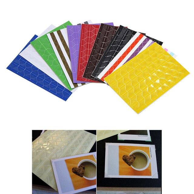 102 pcs/แผ่นใหม่ PVC สติกเกอร์ DIY ที่มีสีสันมุมสมุดภาพกระดาษอัลบั้มภาพกรอบตกแต่งภาพ