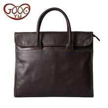 Оригинальный первый слой кожи сечение сумки кожаные мужские ПР Бизнес и отдыха портфель большой емкости плечо мне
