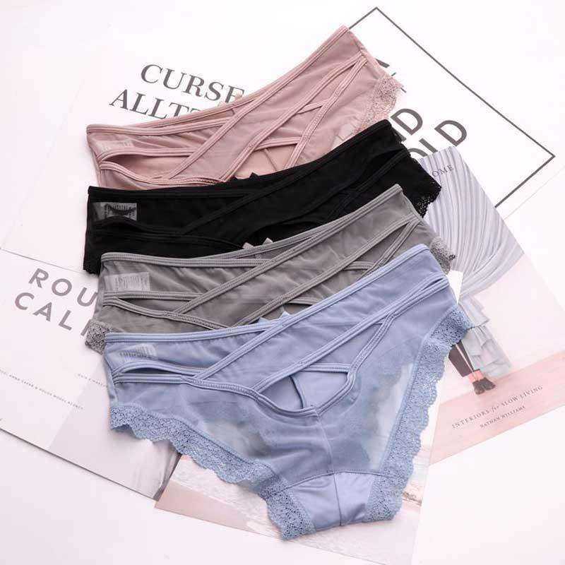 SP&CITY Bandage Design Lace Underwear Women Stain Sexy   Panties   Sex Female Hollow Out   Panties   Lingerie Crotch Cotton Briefs Thong