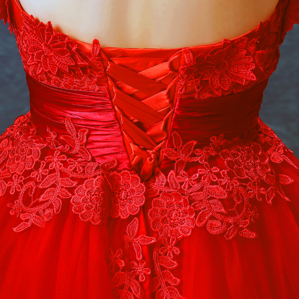z 2016 new arrival stock maternity plus size bridal gown pregnant evening  dress short backless sexy Red Lace 2416-in Evening Dresses from Weddings    Events ... 2f429d66c711