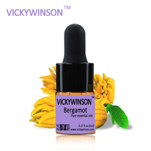 VICKYWINSON Bergamot essential oil 5ml 100% Pure Oils Clear Skin Control Facial Care WD13
