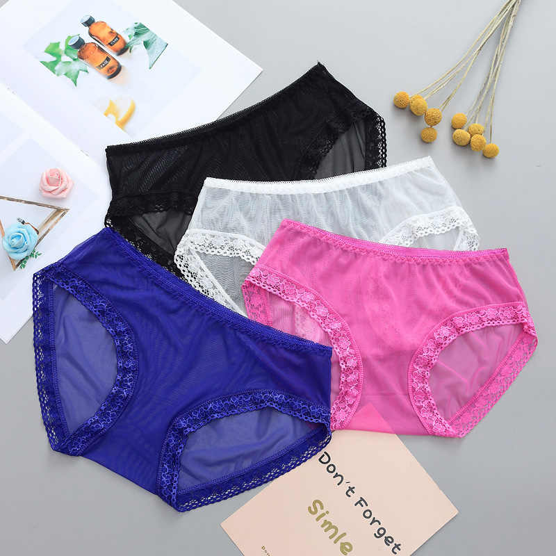 b7a25e34b64887 ... Summer Wrap Design Sexy Ladies Plus Size Mesh Transparent Panties  Lingerie Fashion Low-Rise Women