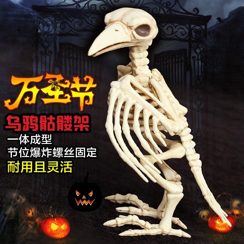 Halloween décoration article Simulation Crowman modèle crâne os étagère horreur Bar hantée maison accessoires
