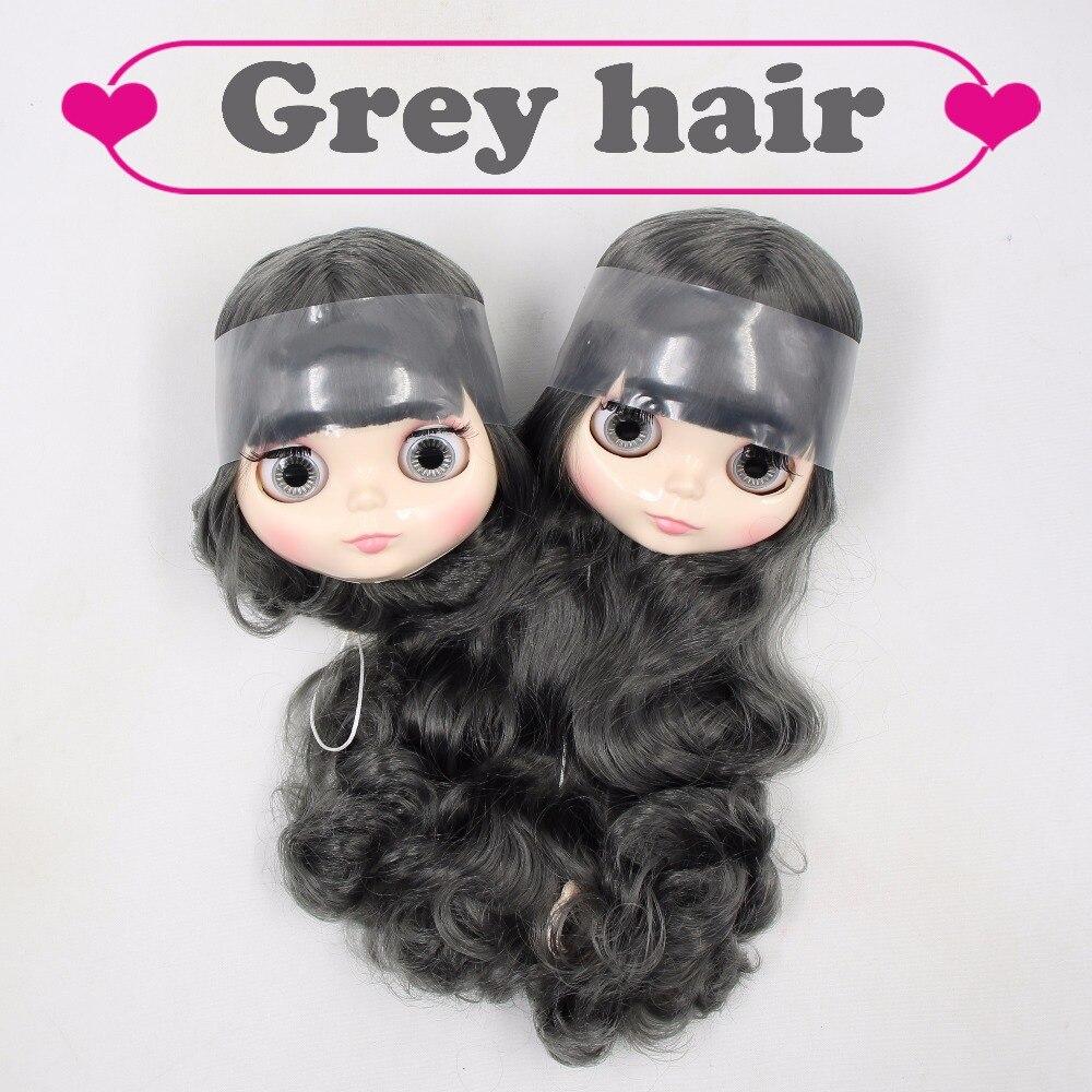 Fabbrica blyth testa solo, senza corpo, a breve/lungo grigio dei capelli BL9016-in Accessori per bambole da Giocattoli e hobby su  Gruppo 1