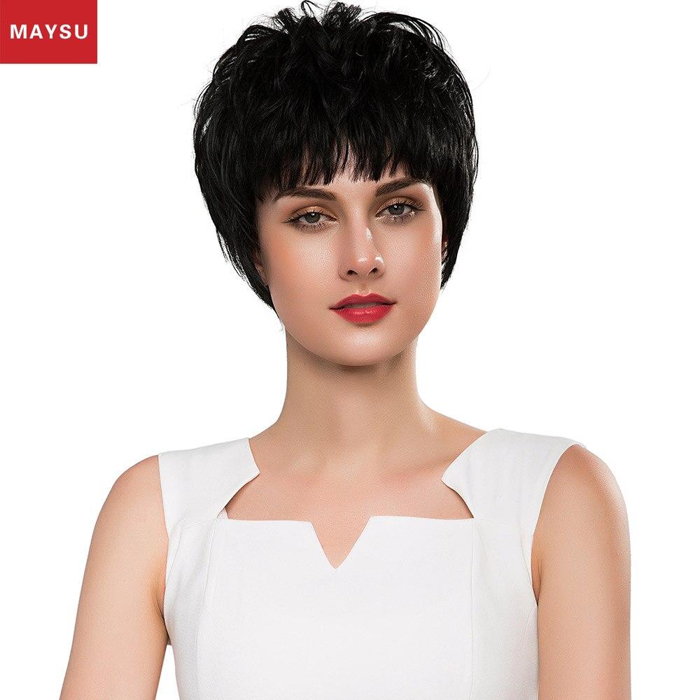 Modern Human Hair Wigs 11