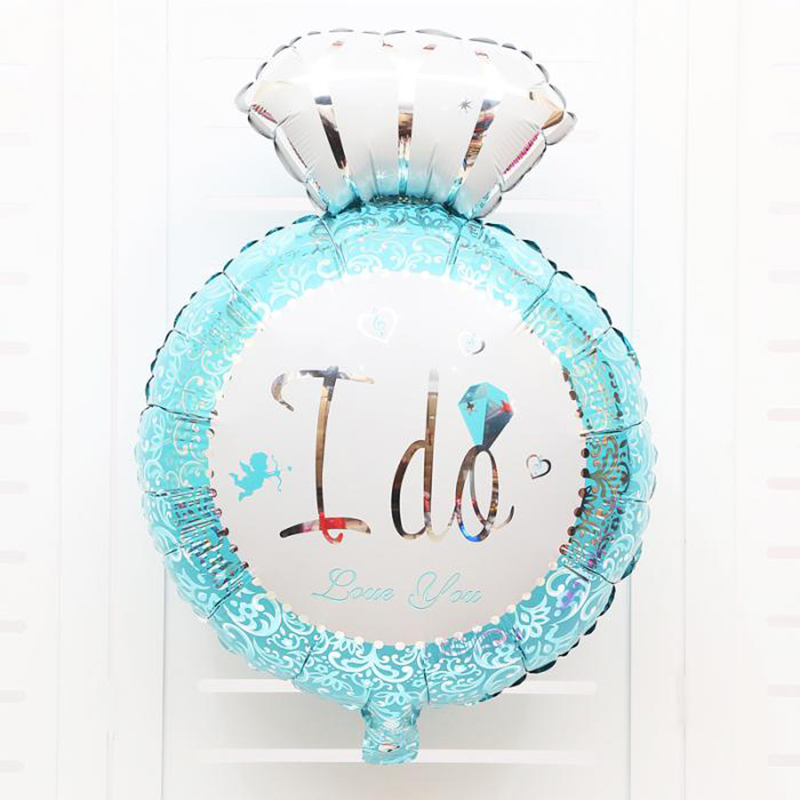 2pcs wedding favors and gifts Diamond Ring foil Balloons Romantic Wedding Engagement party supplies Anniversary decorations kids