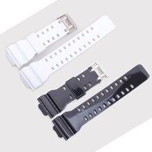 1192eae912d Faixa de Relógio do Silicone 16mm Cinto Pulseira de Pulso Pulseira de  Borracha Alça para Casio G-choque GD100 110  120 150 GSL-8.