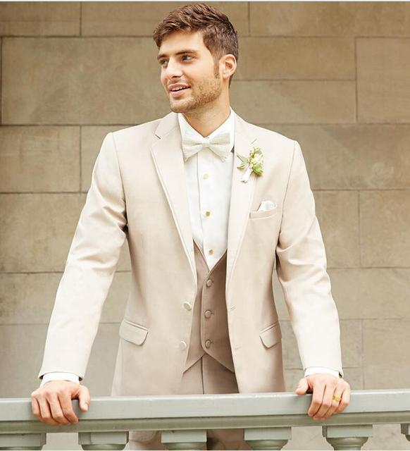 Latest Coat Pant Designs Ivory Custom Groom Best Man Beach Summer Tuxedo Wedding Suits For Men