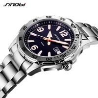 Relogio Masculino 2017 Luxury Brand Sinobi Men Watches Luminous Hands Full Steel waterproof Quartz Wrist Watch Men Sport Watches