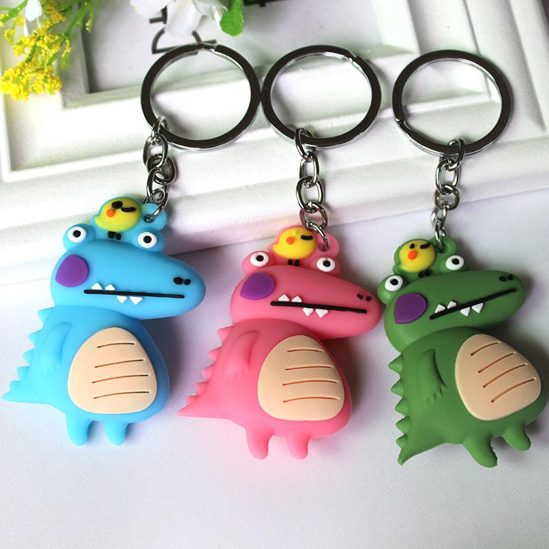 Kawaii Little Dinosaur Keychain Key Chain Women Handbag Pendant Keyring Gifts