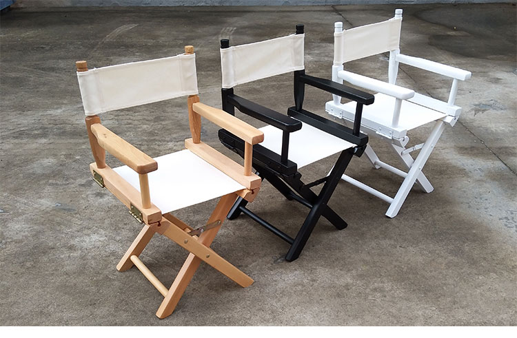 Kid Size Directors Foldable Chair In Canvas Fabric With