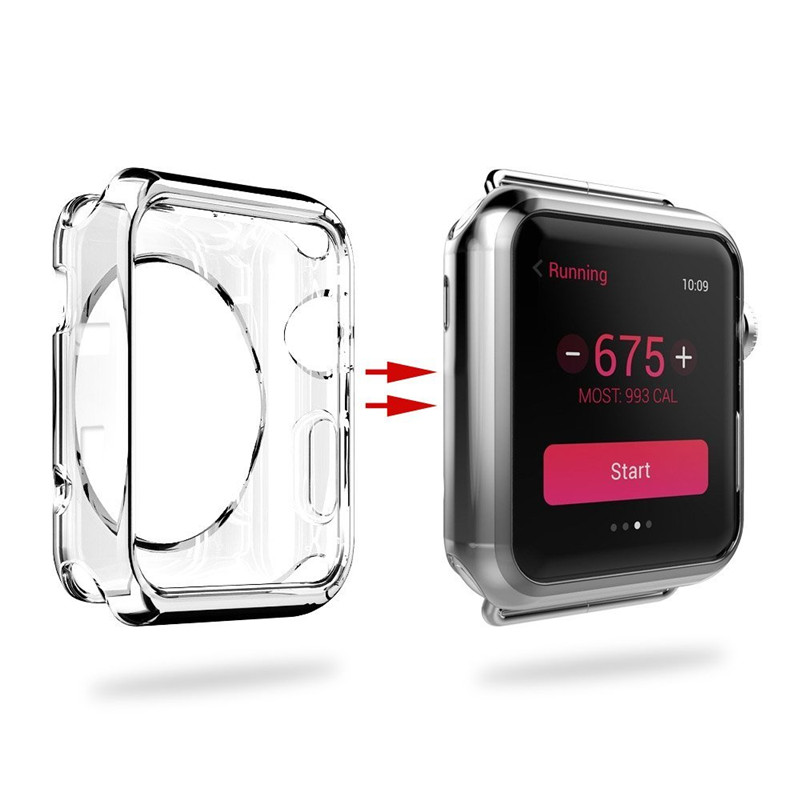 Watches Accessories For Apple Watch Case For iphone Watch TPU Screen Protector Hd Clear Ultra-thin For iWatch Cover