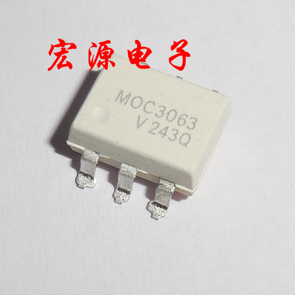 10pcs/lot <font><b>MOC3063</b></font> <font><b>MOC3063</b></font>-M EL3063 SMD-6 Driver Output Optocoupler <font><b>ICs</b></font> In Stock image
