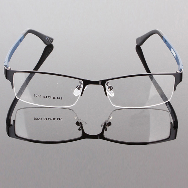 durable mens eyewear metal frame half rim designer clear lens eye glasses framechina