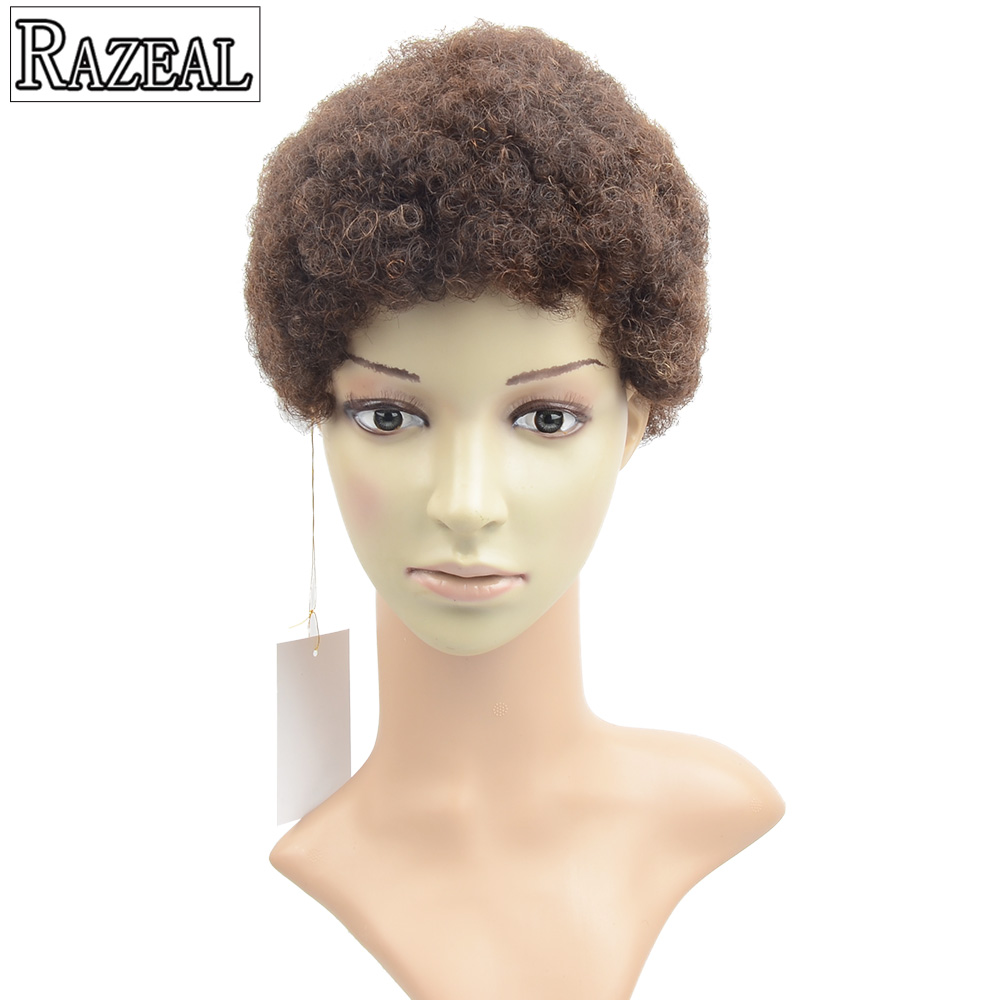 Razeal 2017 6 Short Wigs Synthetic Wigs Cosplay Perruque Women Afro Kinky Curly Wigs Dra ...