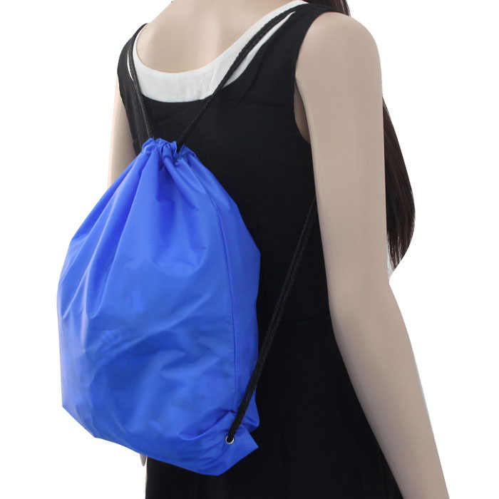 Mochila con cordón de compras bolsas de viaje de playa de Nylon con cordón Cinch saco de deporte de playa de viaje mochilas al aire libre