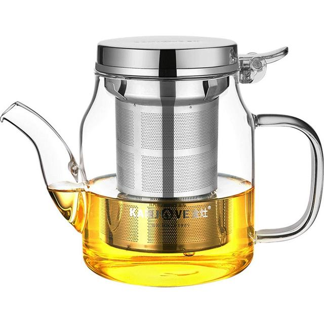 Kamjove new elegant cup tea cup flower tea pot heat-resistant glass tea set brewing device glass teapot coffee pot glass tea pot
