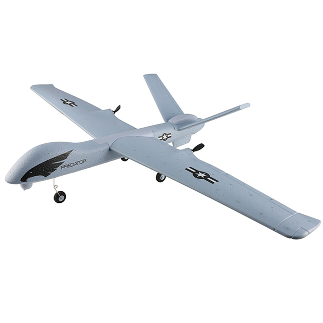 US $29 53 47% OFF|Z51 RC Drone 2 4G 2CH Predator Remote Control RC Airplane  660mm Wingspan Foam DIY Assembly Military Fixed Wing for Kids -in RC