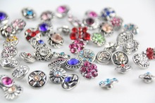 new fation wholesale 50pcs/lot mix styles colors 12mm small button snap jewelry interchangeable ginger snap button charm  все цены