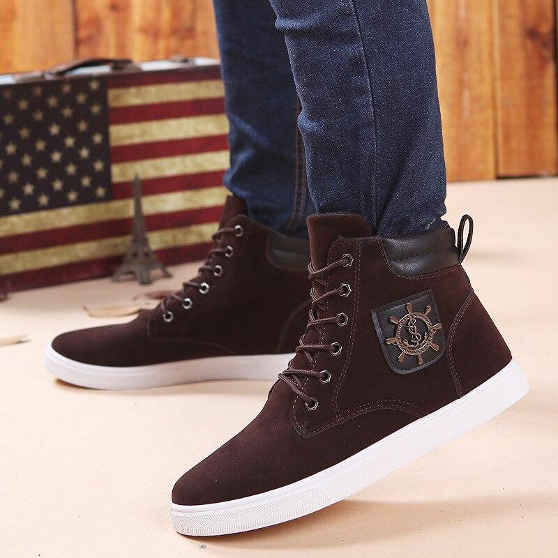 cf395c655b99f 2015 nuevo invierno de los hombres altos zapatos casuales tendencia de la  moda de cuero mate de zapatos de los hombres Coreanos DL3169 en Calzado  casual de ...