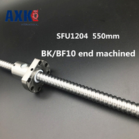 SFU1204 550mm Long Rolled Ball Screw C7 BK BF10 End Machined With 1204 Single Ball Nut
