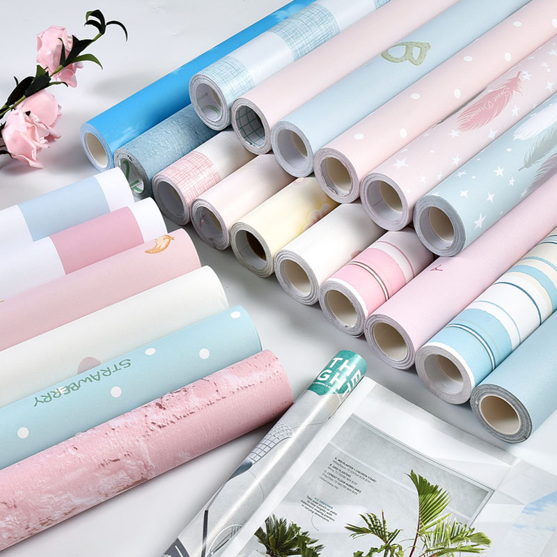 60cmX5m Wall Paper Living Room Waterproof Wall Sticker Home Decor PVC Imitation Cloth Self Adhesive Wallpaper For Girl Kids Room цена 2017
