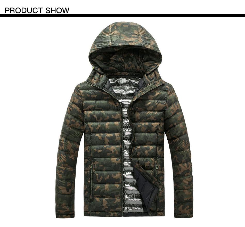 70415784f11 2019 Camouflage Padded Jacket Men 2018 Winter Warm Hooded Camo ...