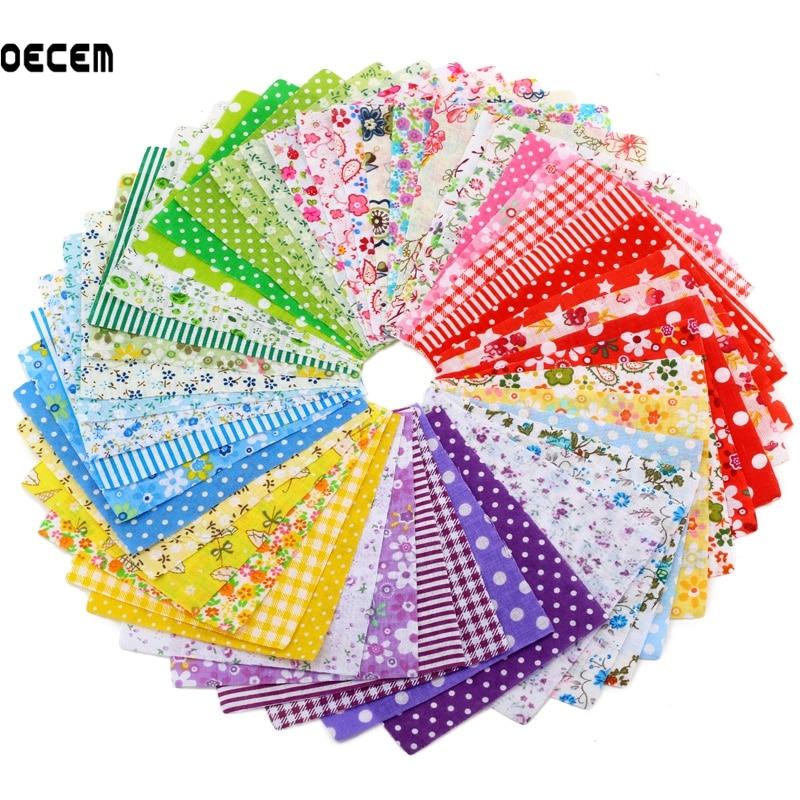 7362659f76 Best buy Cotton Fabric Charm 10X10CM 100 Pieces Random Color Tissu Patchwork  Fabrics For Tilda DIY Handmade Crafts Tecido online cheap