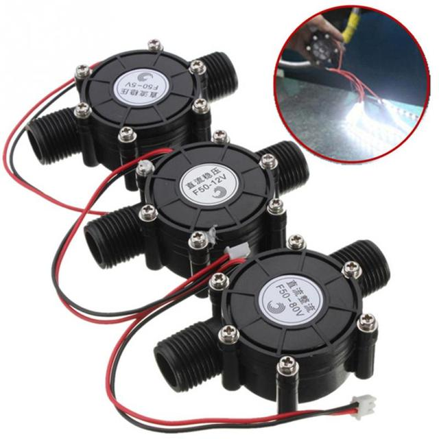 เครื่องกำเนิดไฟฟ้าพลังน้ำขนาดเล็ก 80 โวลต์/12 โวลต์/5 โวลต์ 10 วัตต์กระแสตรงเครื่องกำเนิดไฟฟ้าพลังน้ำขนาดเล็กแตะน้ำไหลไฮดรอลิก DIY กระแสไฟฟ้าสูงเครื่องกำเนิดไฟฟ้า