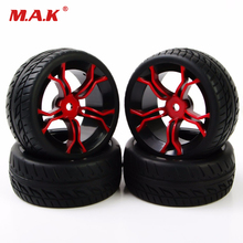 4pcs/set HPI racing RC car 1:10 flat rally on road car tire tyre wheel rims HSP fit for 1/10 RC car tires parts accessory rc car spare parts shock absorber for hsp 1 10 nitro on road racing car 94177 part no 06062