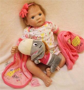 20inch Reborn Babies Silicone Vinyl Dolls realistic lifelike luxury accessories doll kids birthday doll gifts brinquedos