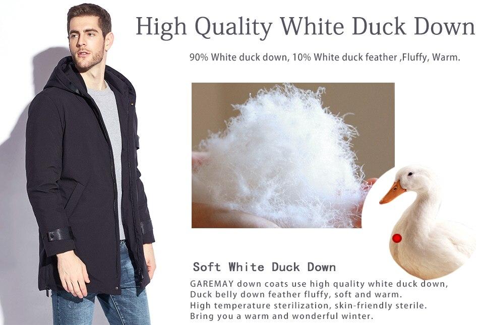 f6bda23c034 2019 GAREMAY Feather Jacket Men Winter Male Duck Down Jacket Long ...