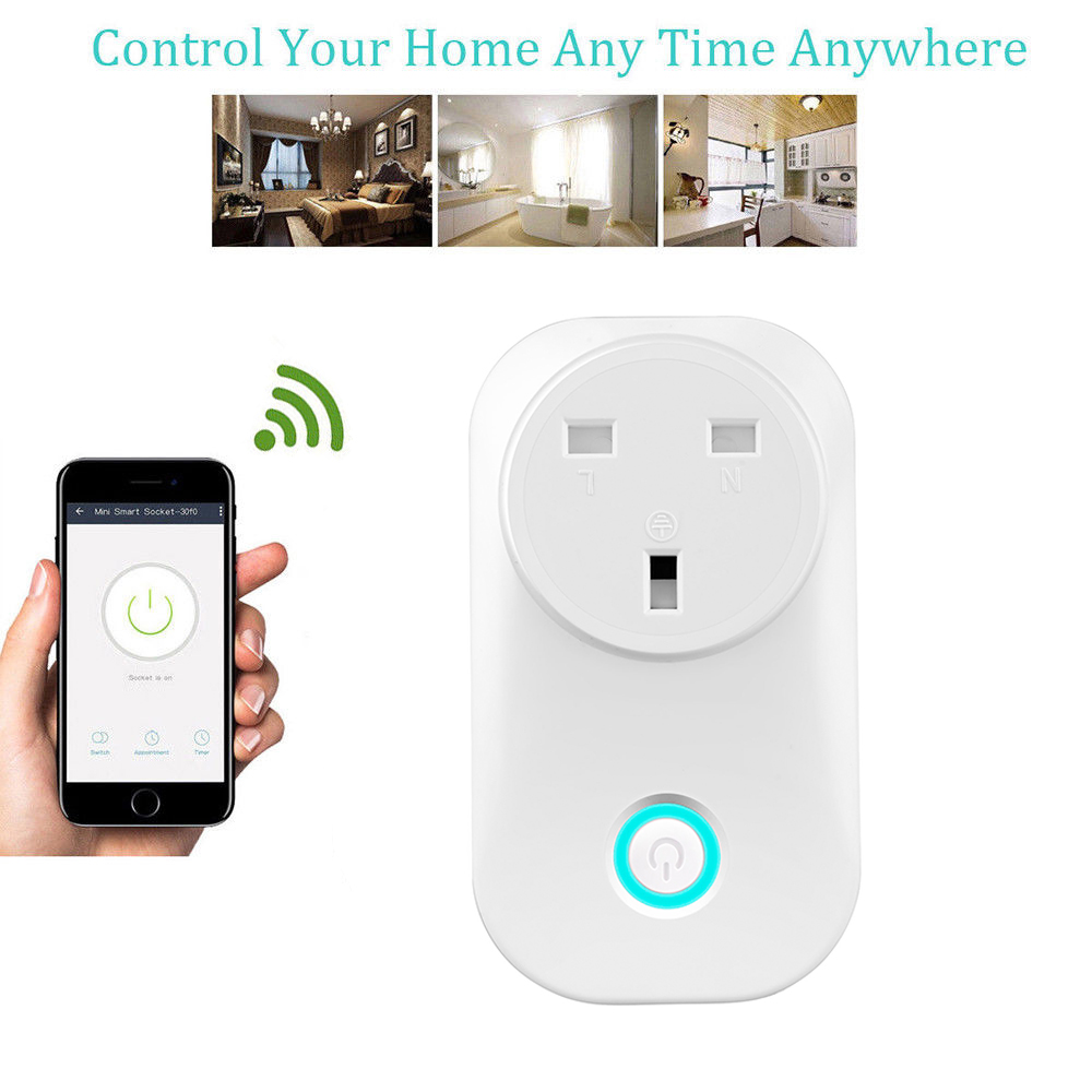 HTB1H.CJaOLrK1Rjy1zdq6ynnpXaB - US UK EU AU Plug WIFI Remote Control Socket Voice Control Timing Socket Smart Home Power Socket Alexa Google Assistant IFTTT