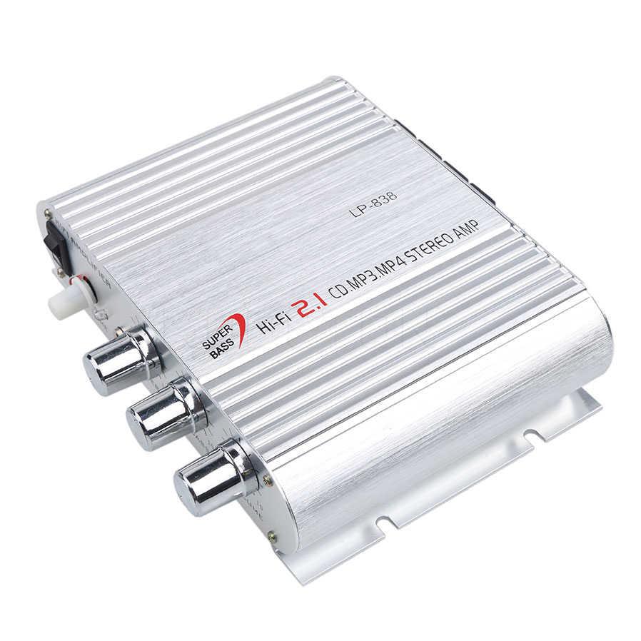 Kebidumei 12 V автомобильное радио LP-838 Hi-Fi CD mp3мотоциклетный домашний аудио стерео бас динамик усилитель Boostrer плеер
