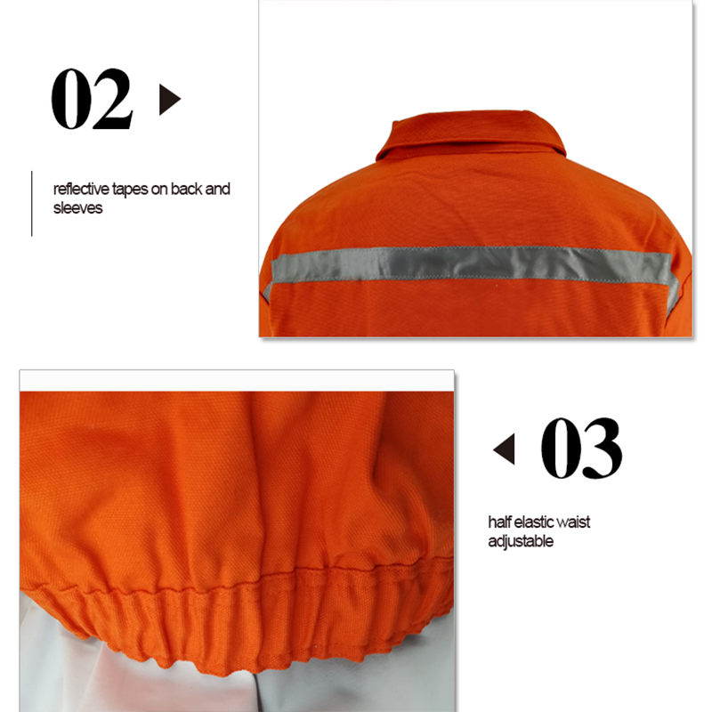 Urban Supply Hi Vis Fire Retardant Orange Welding Coat Quilted Safety Mens Winter Jacket Workplace Safety Supplies