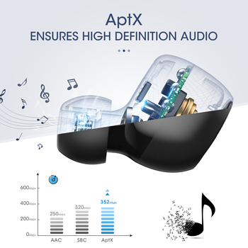 Mpow T5 TWS Bluetooth 5.0 Earphone 3D Stereo Wireless Handsfree Earphones Mini AptX Earbuds IPX7 Waterproof With 36H Playtime