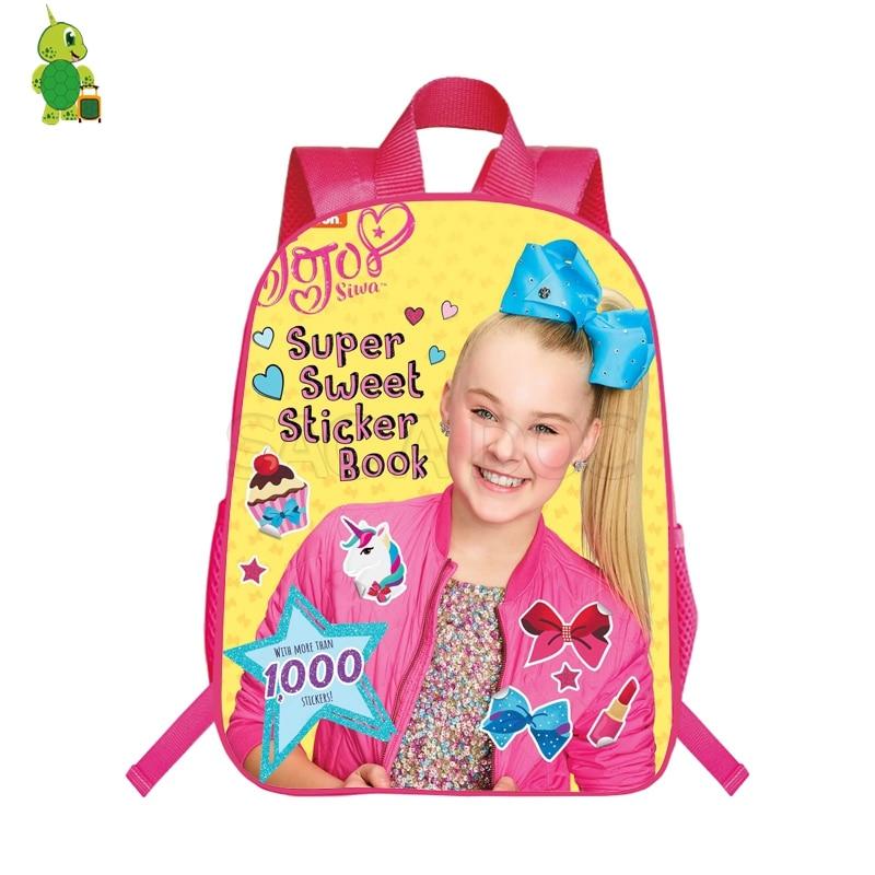 Pop Star Jojo Siwa Backpack School Bags For Teenage Girls Daily Backpack Kids Book Bags Casual Travel Shoulder Bags