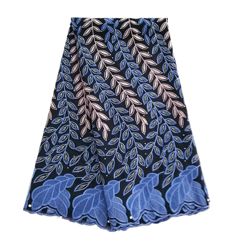 Latest Nigerian Lace African Swiss Cotton Lace Navy Blue High Quality Swiss Voile Lace In Switzerland For Wedding DressLatest Nigerian Lace African Swiss Cotton Lace Navy Blue High Quality Swiss Voile Lace In Switzerland For Wedding Dress