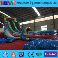 Tropical Rainbow Inflatable Water Slide for sale