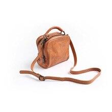 Vendange Новая модная женская винтажная сумка карамельного цвета из натуральной воловьей кожи/сумка-мессенджер/Сумочка 2312