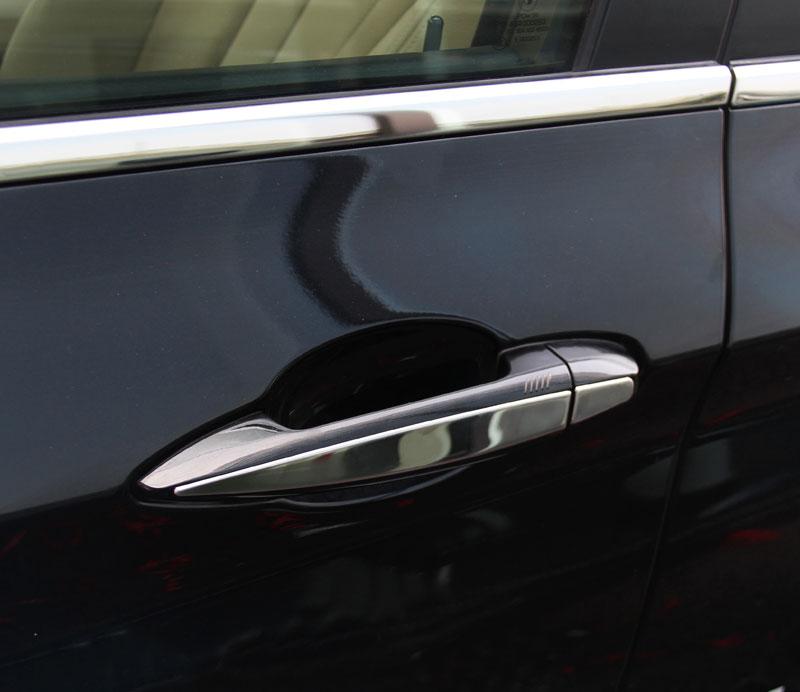 BMW X1 F48 2016 2017 Paslanmaz çelik Araba Dış Kapı Kolu Trim - Araç Içi Aksesuarları - Fotoğraf 4