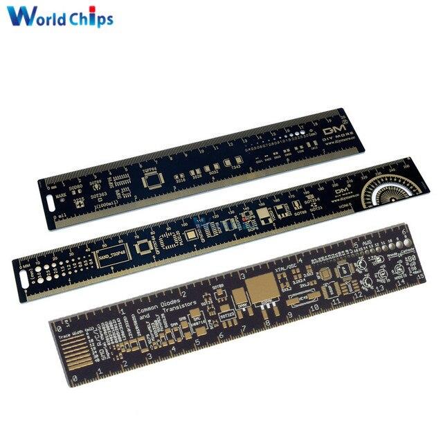 15 cm 20 cm 25 cm multifuncional PCB regla herramienta de medición resistencia condensador Chip IC SMD paquete unidades para electrónica los ingenieros