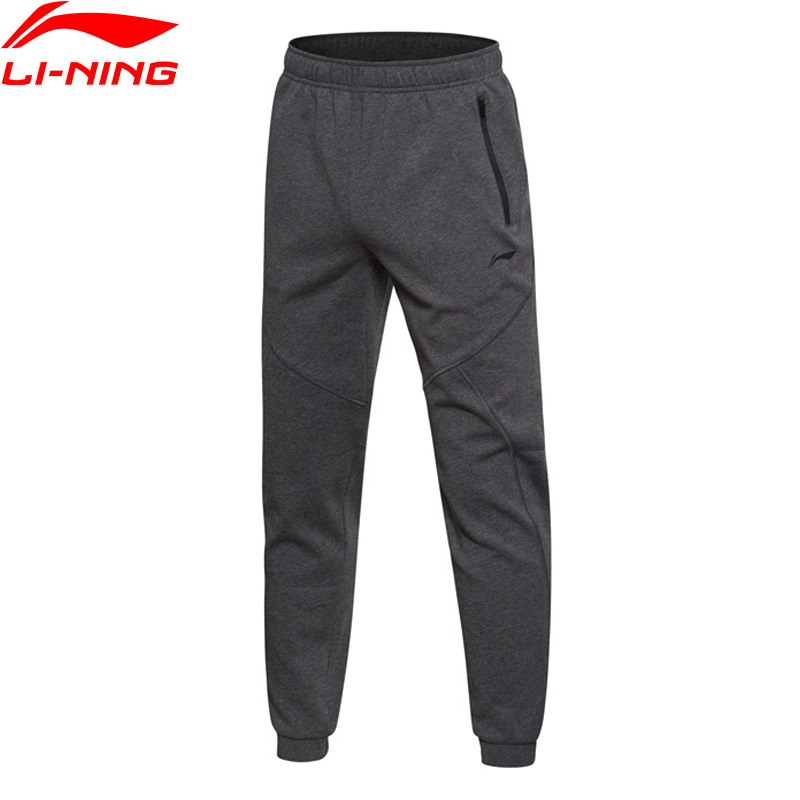 Li-Ning Men Training Series Sweat Pants WARM AT Regular Fit 100% Cotton LiNing Comfort Sports Pants AKLM701 MKY327 men at arms