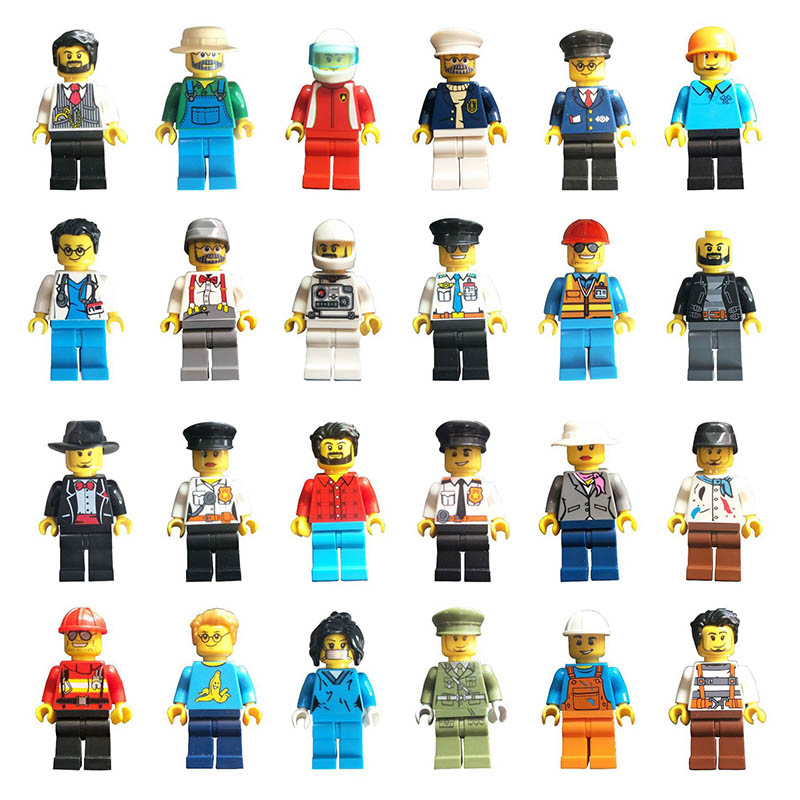 DIY Compatible Legoings Building Blocks Figurine Miniature Profession Series Star Wars Model Building Kits Lote Toy For Children