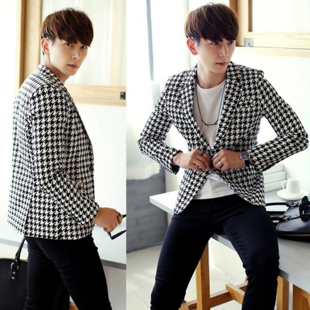 Hombres otoño Nueva Casual Chaquetas de Moda de Corea Slim Fit Floral trajes de Hombre Casual Masculina Chaqueta Blazers Casacas Envío Gratis 2XL