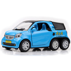Image 2 - HOMMAT Simulation 1:24 Smart Fortwo 4x4 Pickup Vehicle Model Alloy Diecast Toy Car Model Toys For Children Kids Christmas Gift
