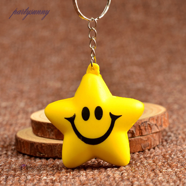 Smiling Face Ball Keychains For Women Fashion Jewelry PU Foaming Keychains  Baubles Pendant for Key Bags Cute Keyring KeyHolder dd58ece95