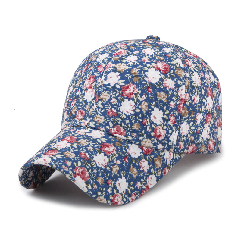 2018 Samll Floral Baseball Cap For Women Summer Beach Fashion Sun hat summer can be folded anti uv sun hat sun protection for children to cover the sun with a large cap on the beach bike travel