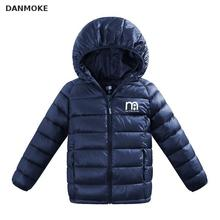 Danmok Boys Winter Coats Outerwear Fashion Hooded Parkas padded Jackets Thicken Warm Outer Clothing Unisex Baby Jackets